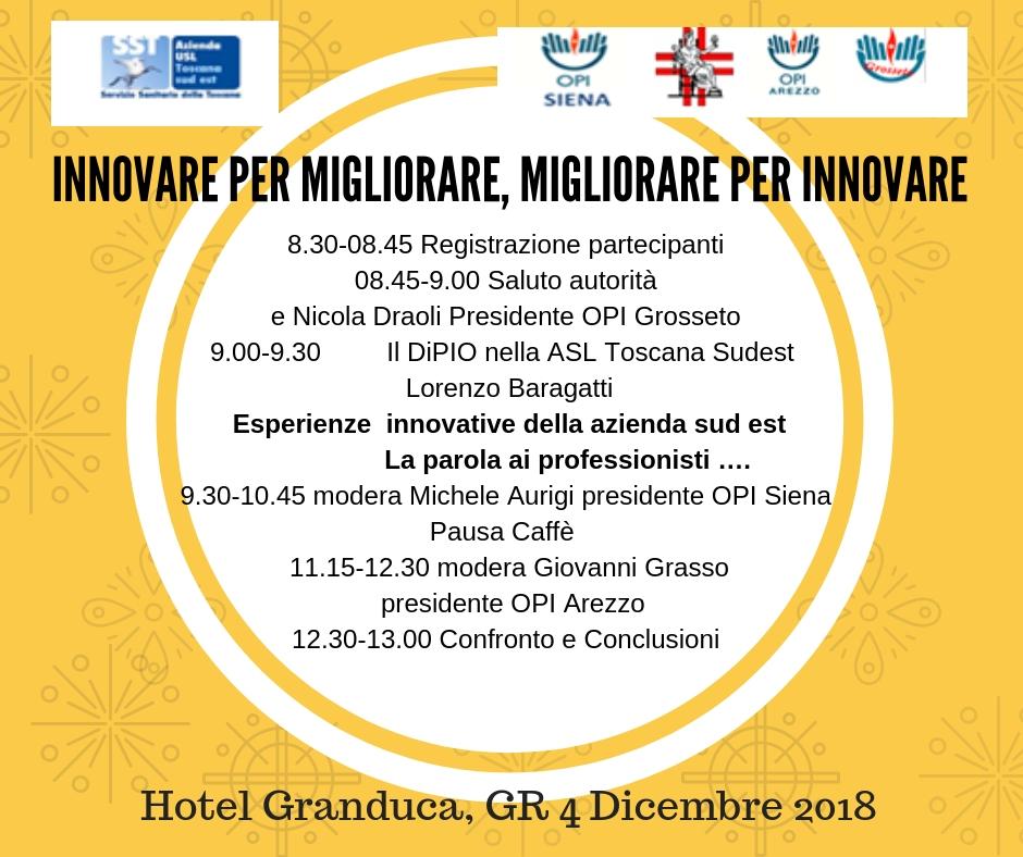 Innovare per mgiliorare migliorare per innovare 2